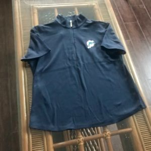 Miami Dolphins Polo with zipper Navy Size XL